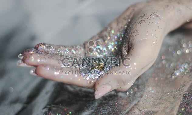 hands holding glitter decor - Free image #201043