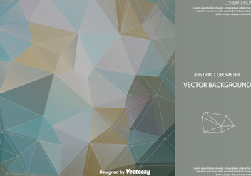 Abstract Polygonal Vector Background - Free vector #201203