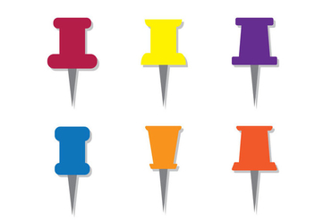 Thumb Tack Vectors - Kostenloses vector #201243
