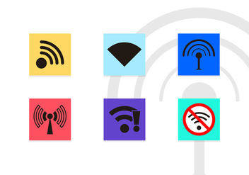 Wifi Symbols Vector Icons - бесплатный vector #201343