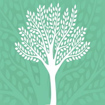 Vector Eco-Friendly Tree Silhouette - vector gratuit #201813