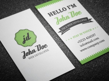 Vector Retro Personal Business Card - Free vector #201853