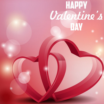 Hearts Valentine's Day Background Vector - Free vector #202043