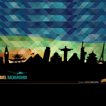 Abstract World Monuments Background - Free vector #202063