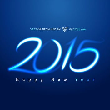Glowing 2015 New Year Free Vector - Kostenloses vector #202093