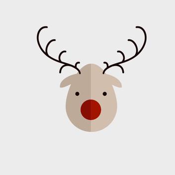 Cute Vector Reindeer - vector gratuit #202103