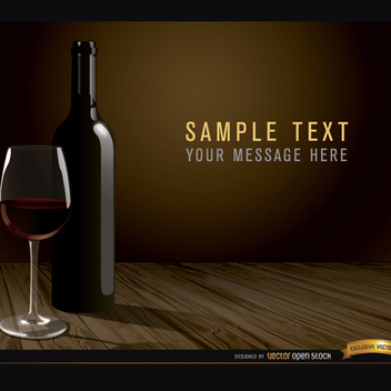 Free Vector Wine Glass and Bottle - Kostenloses vector #202223