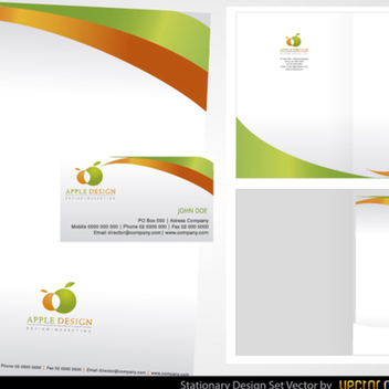 Free Vector Stationery Design Set - Kostenloses vector #202283