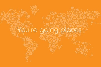 You're Going Places Map - vector gratuit #202363