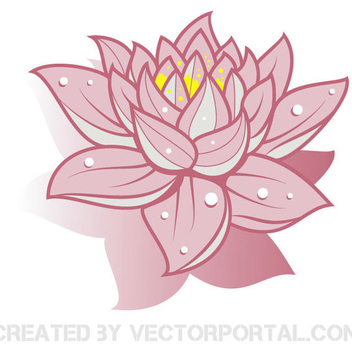 Free Vector Lotus Flower - бесплатный vector #202423