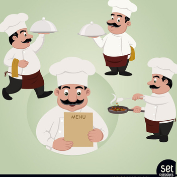 Free Vector Chef Character Set - Free vector #202443