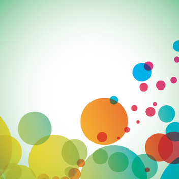 Colorful Bubble Background Vector - vector gratuit #202473
