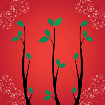 Swirly Branch Vector - Free vector #202543