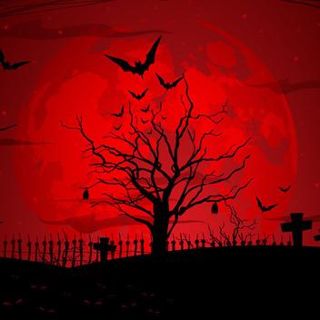 Free Vector Halloween Scene - Free vector #202643