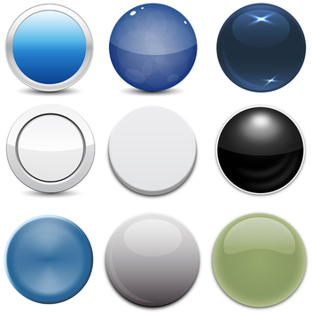 9 Free Vector Circle Button Styles - Free vector #202663