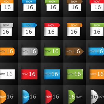 Vector Calendar Icons - Kostenloses vector #202703