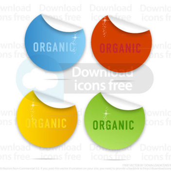 Colored Labels Set - Free vector #202713