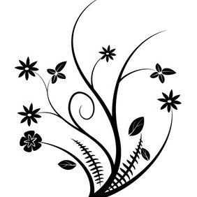 Floral Vector Design Element - vector #202893 gratis