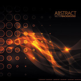 Orange Glare Vector Background - Free vector #202913