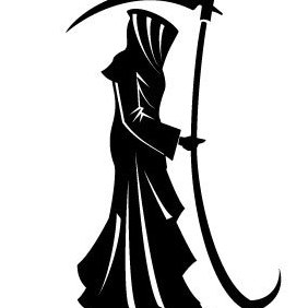 Death Vector Silhouette - Free vector #203013