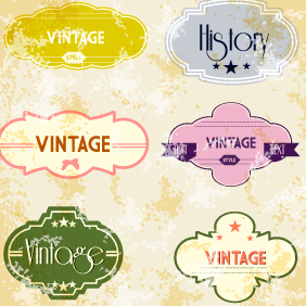 Retro Vintage Vector Labels 20 - Free vector #203103