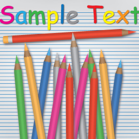 Colorful Pencil Design - vector gratuit #203113