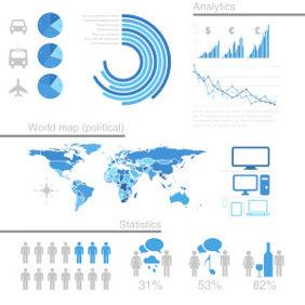 Free Vector Infographic Design Elements - Kostenloses vector #203203