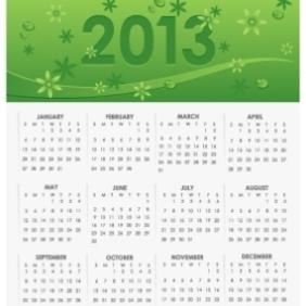 Vector 2013 Calendar - Kostenloses vector #203263