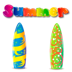 Summer Elements Set 3 - Free vector #203343