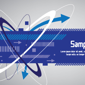 Techno Blue Banner Design - Free vector #203493