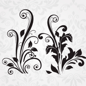 Vector Floral Set 154 - Free vector #203533