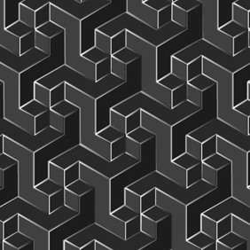 Grey Geometric Pattern - vector gratuit #203543