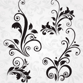 Vector Floral Set 152 - Free vector #203573