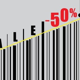 Barcode Sales Vector - бесплатный vector #203623