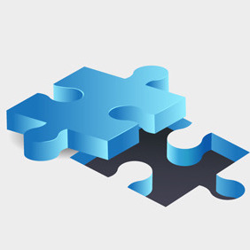 Free Vector Of The Day #136: Jigsaw Puzzle Pieces - vector gratuit(e) #203713