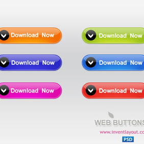 Web Download Button - Free PSD - vector gratuit #204113