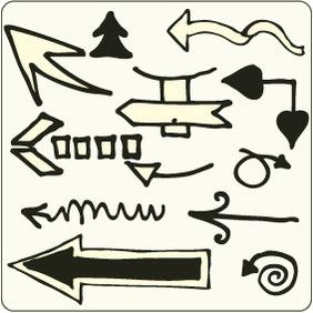 Doodle Arrows 4 - Free vector #204303