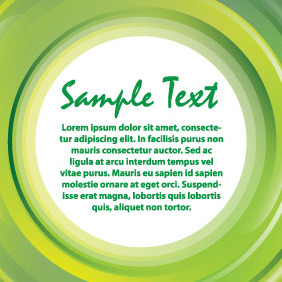 Green Banner Light Card - Kostenloses vector #204373