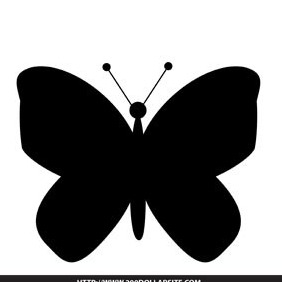 Free Butterfly Silhouette Vector - vector gratuit(e) #204573