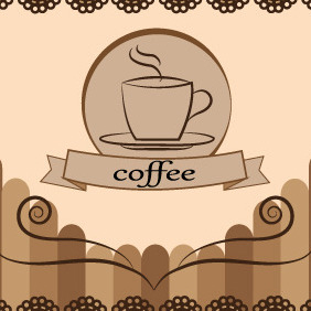 Coffee Free Vector Card Design - Free vector #204673