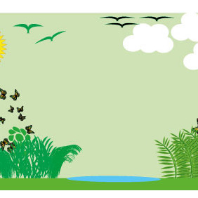 Summer Nature Vector Background - Kostenloses vector #204823
