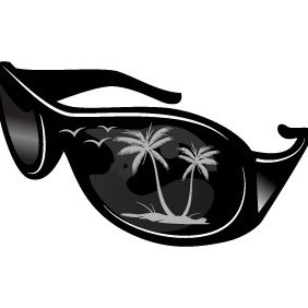 Sunglasses Vector - Free vector #204833