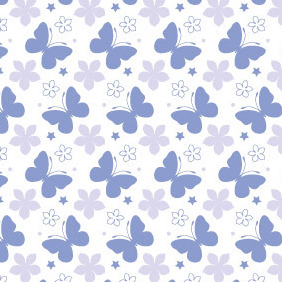 Beautiful Summer Seamless Butterfly Vector Pattern - vector #204983 gratis
