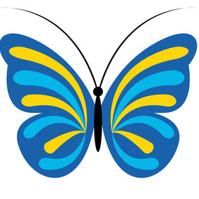 Blue Butterfly - vector gratuit #204993