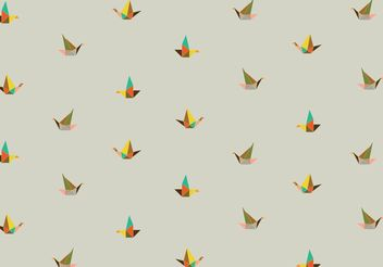 Origami pattern background - vector gratuit #205113