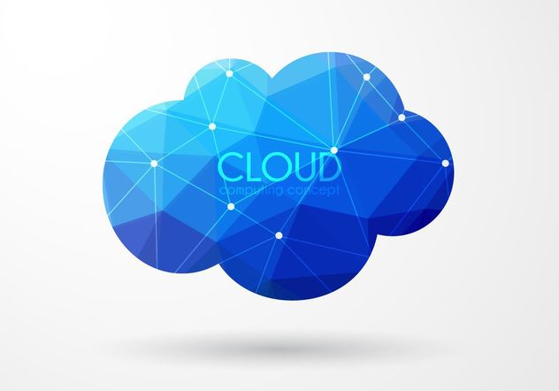 Polygonal Cloud - Free vector #205123