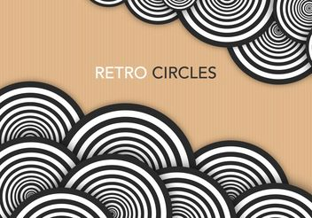 Retro Circles - vector #205133 gratis