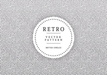 Geometric Dotted Circles Retro Background - vector gratuit #205163