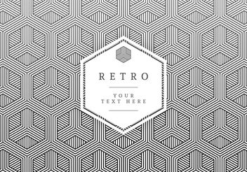 Geometric Retro Vector Card - Free vector #205193