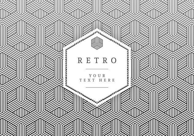 Geométricas Vector Retro tarjeta - vector #205193 gratis